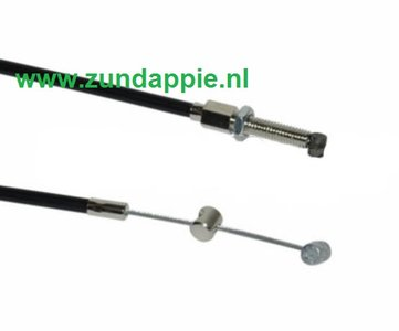 Versnellings kabel zwart + 15cm Elvedes met vaste nippels 40529