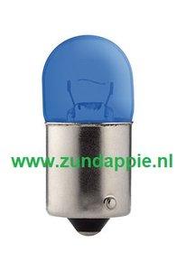 Lamp 12 volt BA15s 10 watt BA15s (R19/5) Blauw