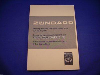 Zundapp service manual voor 50cc. 3/4/5 versnelling