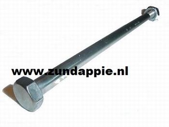 Achterbrug as RVS 529. M12x1.5 Lengte 197 MM 529-14.110R