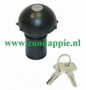 puch tankdop maxi model tapp + slot zwart SG7440