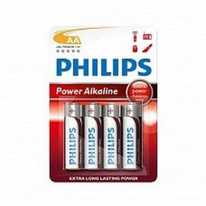 AA LR3/AM3 Batterijen PHILIPS power alkaline Blister 4 stuks