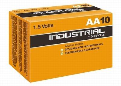 AA LR6 Batterijen DURACELL Industrial doos 10 stuks